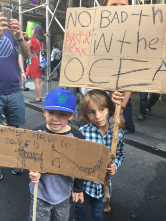 Kids at the climate march
